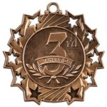 3rd Place Ten Star Medal Tennis Trophy Awards