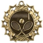 Tennis Ten Star Medal Tennis Trophy Awards