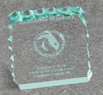 Paper Weight - Cracked Ice Traditional Acrylic Awards