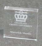 Paper Weight - Bevel Square Traditional Acrylic Awards