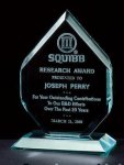 Thick Polished Diamond Acrylic Award Traditional Acrylic Awards