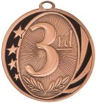 3rd Place MidNite Star Medal Trapshooting Trophy Awards