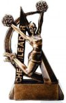 Cheerleading Resin Trophy Ultra Action Resin Trophy Awards