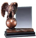 Eagle With Glass Unique Awards