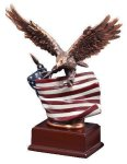 Resin Eagle With Flag Unique Awards