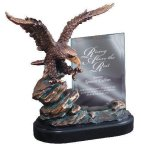 Eagle On Rock With Glass Unique Awards