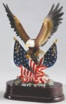 Eagle with American Flag On Base Unique Awards