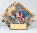 Resin Diamond Plate Victory Victory Trophy Awards