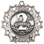 2nd Place Ten Star Medal Volleyball Trophy Awards
