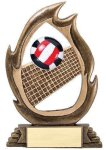 Flame Series Volleyball Volleyball Trophy Awards