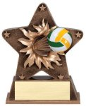 Star Burst Resin Volleyball Volleyball Trophy Awards