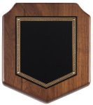 Walnut Corporate Shield Plaque Walnut Plaques