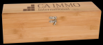 Bamboo Wine Box With Tools Wine Gifts