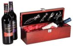 Rosewood Piano Finish Single Wine Box With Tools Wine Gifts
