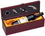 Wine Box With Gold Satin Lining Wine Gifts
