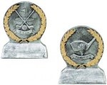 Golf  Gold and Silver Resin Wreath Resin Trophy Awards
