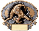 Motion X Oval Wrestling Wrestling Trophy Awards