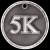 3-D 5K Medal Track Trophy Awards